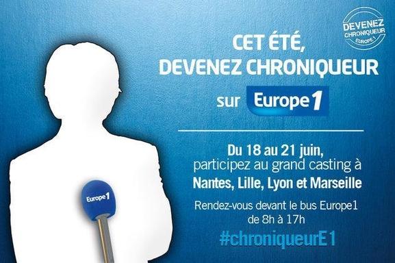 Cet été, devenez chroniqueur sur Europe 1 !