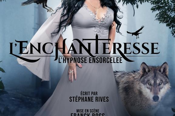 Vous êtes invité à participer au show 100% digital : l'Enchanteresse, interprété par Sabrina Rives la mystérieuse et ensorcelante hypnotiseuse.
