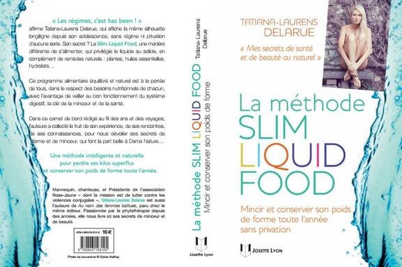 """Tatiana-Laurens Delarue se dénude pour son livre """"La méthode Slim Liquid Food"""""""