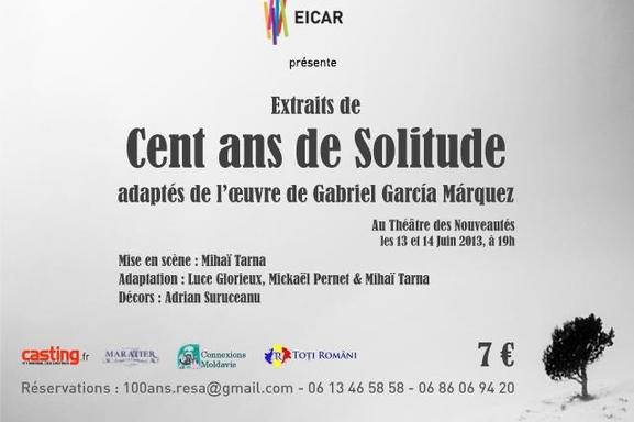 """""""CENT ANS DE SOLITUDE"""", adapté et interprété par les étudiants de l'EICAR !"""