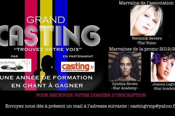 Casting.fr vous offre une année de formation, participez au concours : Trouvez votre voix