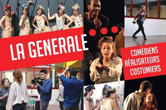 La Générale, l'école du Théâtre et de l'image vous ouvre ses portes Samedi 10 décembre 2016