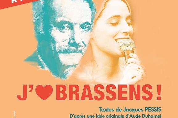 """Aude Duhamel vous transporte dans l'univers de Georges Brassens dans """"J'aime Brassens """" pour ses 100 ans quel bel hommage rendu par une femme."""