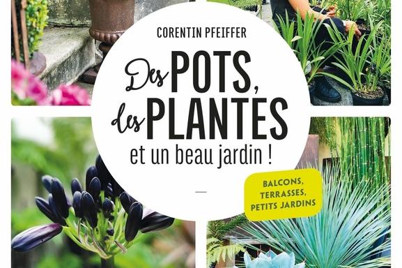 """Corentin Pfeiffer le jardinier star des réseaux sociaux a écrit son premier livre """"Des Pots, des Plantes et un beau jardin !"""" Aux éditions Larousse."""