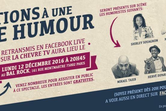 Shirley Soignon et Casting.fr vous invitent à la première scène ouverte d'humoristes gratuite au Bal Rock ce 12 décembre