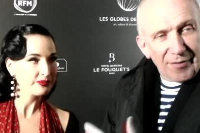 Jean Paul Gaultier et Dita Von Teese Globe des Cristals