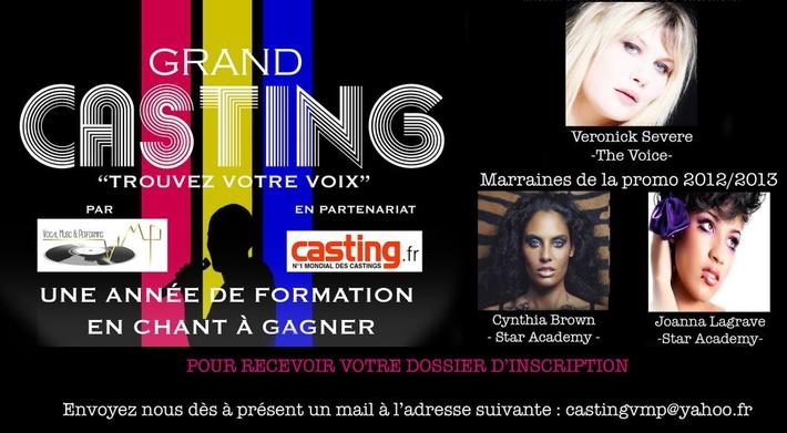 Formation vocale à gagner avec Vocal Music & Performing et Casting.fr !