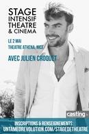 Vous avez envie de développer votre jeu d'acteur? Participez au stage de théâtre de Julien Croquet le 2 mai