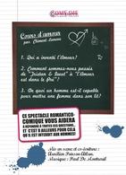 """Le 11 septembre  """"Cours d'amour"""" reprend à la Comédie Contrescarpe!"""