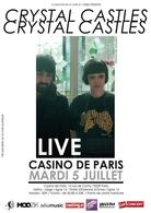 Crystal Castles en concert le 5 juillet au casino de Paris !