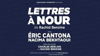 """""""Lettres à Nour"""": un beau spectacle mis en scène par Charles Berling et Rachid Benzine avec Eric Cantona. Allez le voir en jouant avec nous"""