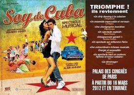 """Le spectacle """"Soy de Cuba"""" en tournée dans toute la France !"""