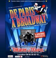 """Voyagez à travers le temps et l'espace grâce au spectacle musical """"De Paris à Broadway"""" !"""