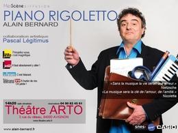 Piano Rigoletto, le spectacle musical d'Alain Bernard au Festival d'Avignon
