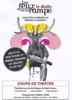 Comédiens confirmés ou débutants rendez-vous au prochain atelier du Studio des feux!