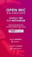 Attention événement: En Live Bruno Berbères et Roberto Ciurleo choisiront et signeront des artistes chez TWINMUSIC