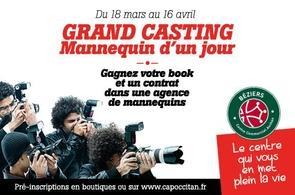 GRAND CASTING : Mannequin d'un jour en partenariat avec Casting.fr