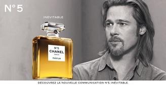 """Brad Pitt l'égérie du nouveau parfum """"Chanel N°5"""""""