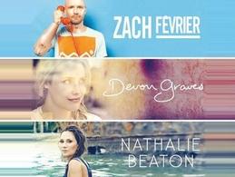 Concert Au Divan du monde: Zach Février, Devon Graves, Nathalie Beaton vous donnent rendez -vous