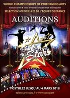 Auditions concours Revealing the Stars ! Sélections nationales France du World Championship of Performing Arts Hollywood !