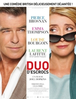 Emma Thompson et Pierce Brosnan en couple pour le film Duo d'Escrocs de Joel Hopkins