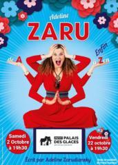 """Pleine d'autodérision, la comédienneAdelineZaru nous accueille dans son spectacle """" de A à enfin Zen """" qui dédramatise nos soucis du quotidien et nous rappelle qu'il faut surtout en rire : à consommersans modération !"""