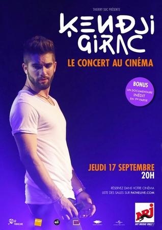 Kendji Girac vous donne rendez-vous au cinéma, pour vivre ou revivre son concert à l'Olympia