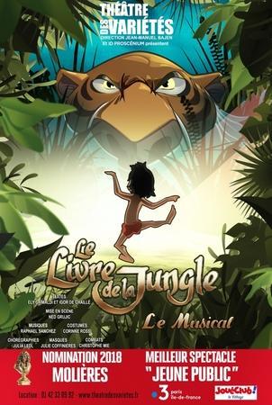 Le Livre de la Jungle, la comédie musicale à découvrir au théâtre des Variétés, grâce à Casting.fr