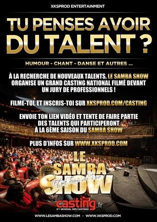 Casting évènement pour le Samba Show filmez votre talent, et gagnez vos places !
