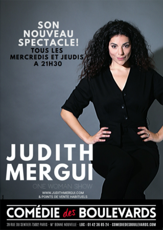 Judith Mergui, une humoriste qui décoiffe à la Comédie des Boulevards, une femme qui brise les codes