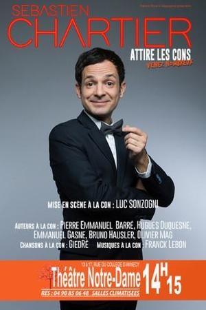 """Sébastien Chartier """"attire les cons"""" au Festival d'Avignon cet été. Places disponibles sur Casting.fr!"""