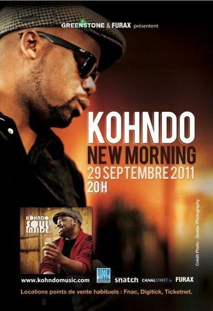 Kohndo en concert au New morning le 29 septembre !