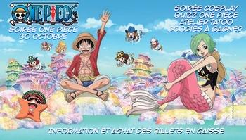 """SOIRÉE SPÉCIALE """"""""ONE PIECE A L'AQUARIUM DE PARIS: MARDI 30 OCTOBRE, ON VOUS INVITE!"""