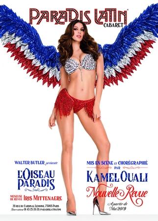 """Iris Mittenaere en scène par Kamel Ouali pour la nouvelle revue """"L'oiseau Paradis"""" du Paradis Latin ! Gagnez votre soirée avec Casting.fr."""