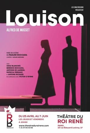 LOUISON une oeuvre classique , un monument littéraire d'Alfred de Musset sous un nouveau jour à découvrir au théâtre du Roi René, demandez vos places.