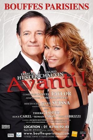 Remportez vos places pour la pièce Avanti avec Francis Huster et Ingrid Chauvin sur Casting.fr