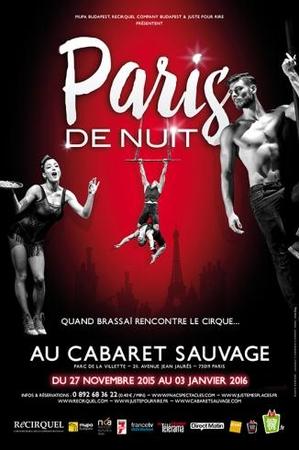 """Le cabaret sauvage vous ouvre ses portes pour le spectacle """"Paris de Nuit"""""""