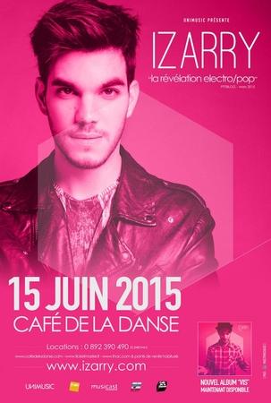"""Pour """"vivre"""" rendez-vous pour le concert d'Izarry au Café de la Danse avec Casting.fr"""