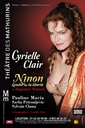 """""""NINON Lenclos ou la liberté """" de Hippolyte Wouters au Théâtre des Mathurins"""