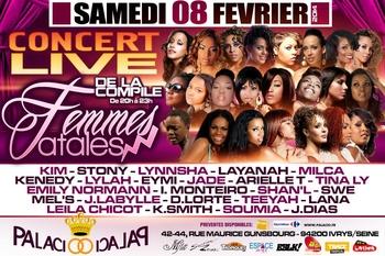 """La compile des """"Femmes Fatales"""" en concert exclusif au Palacio !"""