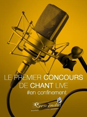 Un concours de chant en live depuis votre confinement avec l'école Crescendo et casting.fr, ça vous dit?
