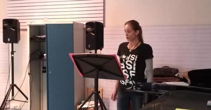 "Nathalie Rippert sings Antonio Caldara : ""Selve Amiche"" (first rehearsal)"