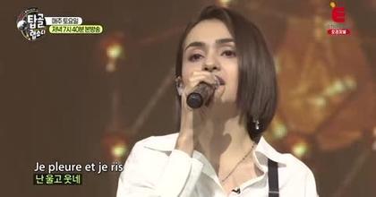 Chanteuse dans un programme en Corée du Sud