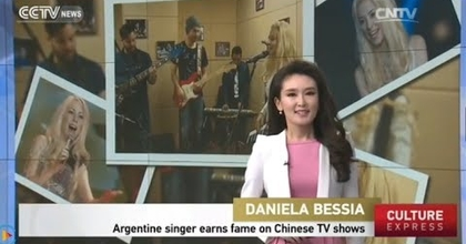 """""""Daniela Bessia"""" Argentine singer earns fame on Chinese TV shows By China International News CCTV"""