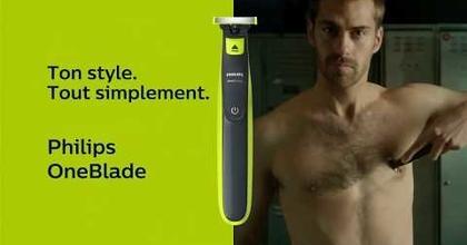 """Philips One Blade (FunkyStache & Barbe OKLM) """"ton style tout simplement"""" Publicité 0:15"""