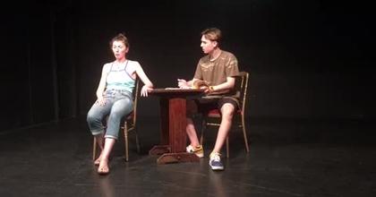 j ai peur , Florence et Edgar , version scene theatre