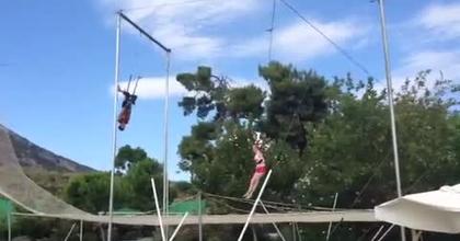 sit roll trapeze volant