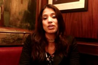 Nataly Florez membre de casting.fr au théâtre pour
